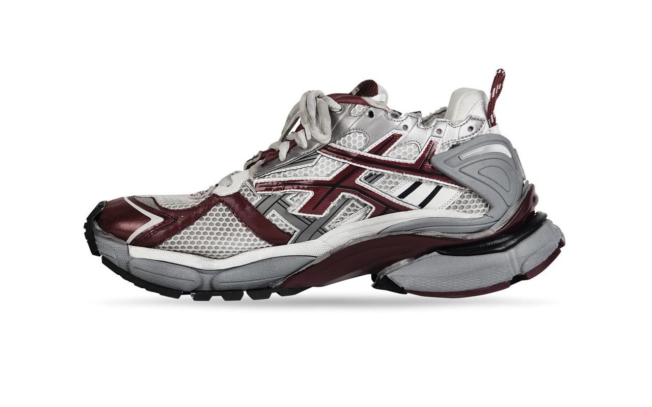 Balenciaga Runner Sneaker White Dark Red Grey 2