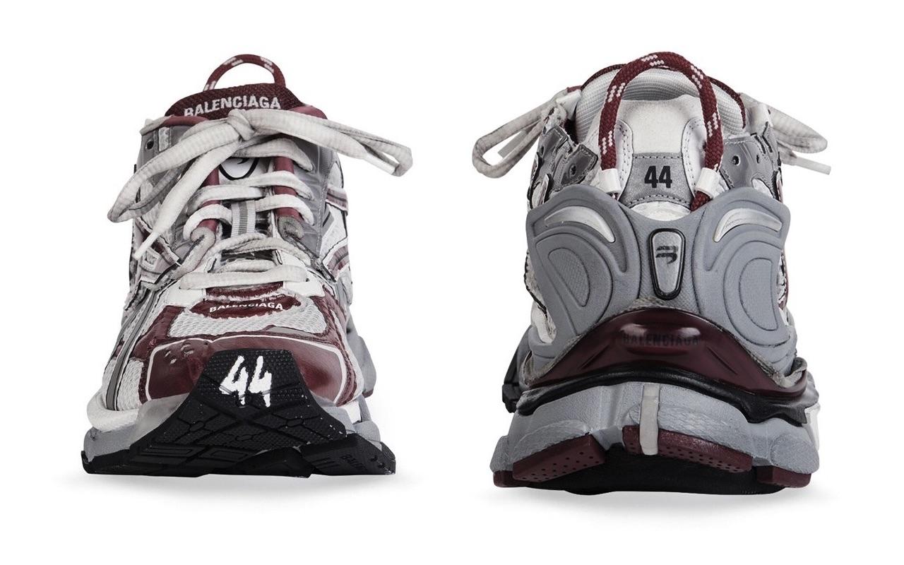 Balenciaga Runner Sneaker White Dark Red Grey Black 3
