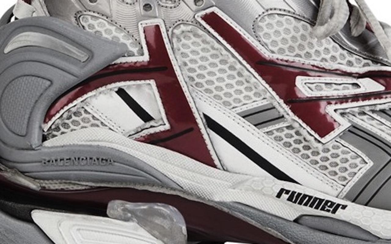Balenciaga Runner Sneaker White Dark Red Grey Where to Buy