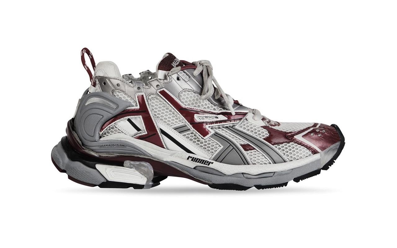 Balenciaga Runner Sneaker White Dark Red Grey