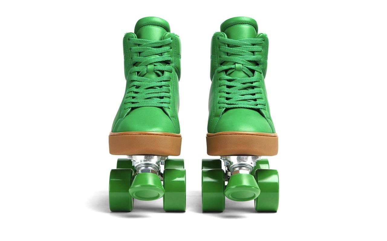 Bottega Veneta Quilt Roller Skates Grass Launch