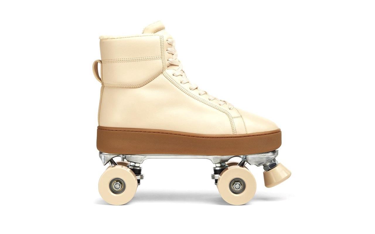 Bottega Veneta Quilt Roller Skates Sea Salt