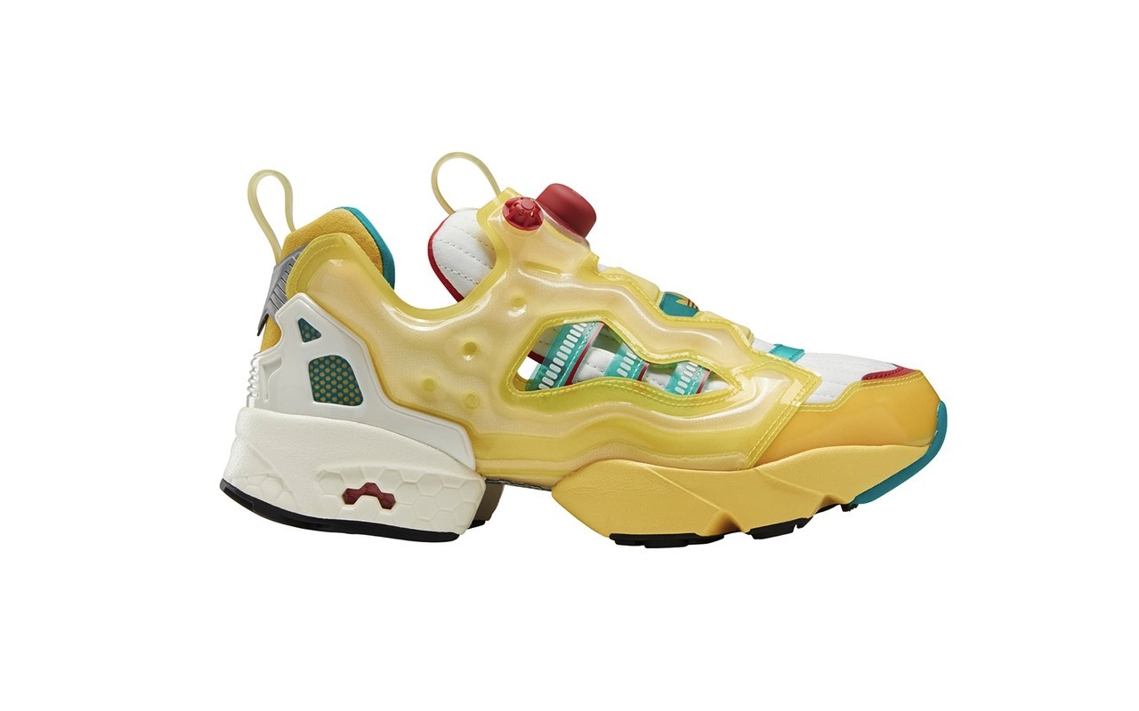 Reebok Adidas ZX 8000 with Pump Technology Spring Yellow EQT Green Cream White