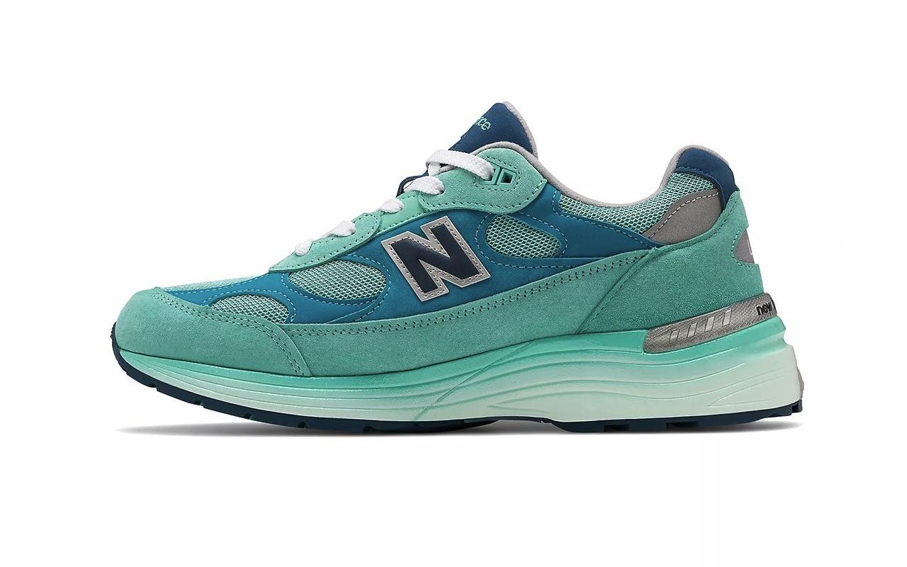 New Balance 992 Aqua Blue Colorway
